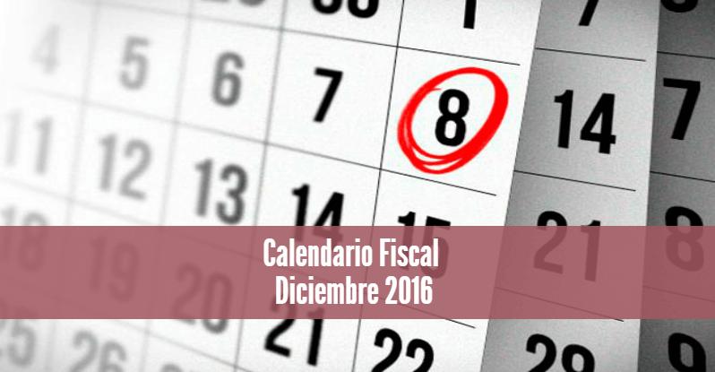 Calendario Fiscal Diciembre