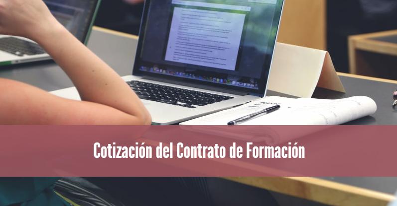 Cotización del Contrato de Formación