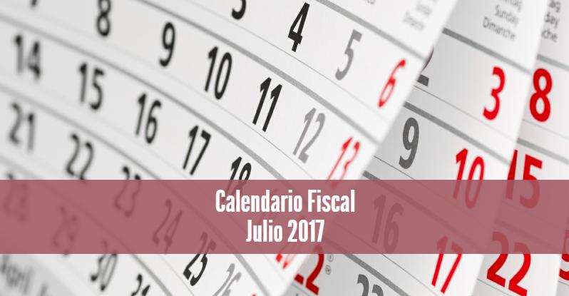 Calendario Fiscal Julio 2017