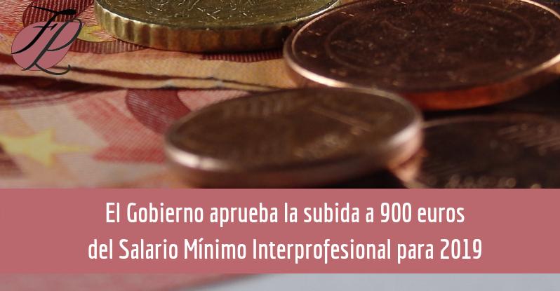 Nuevo Salario Mínimo Interprofesional para el 2019
